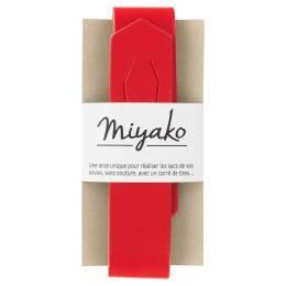Anse de sac Miyako vermillon en cuir - 408