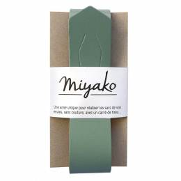 Anse de sac Miyako en cuir kaki - 408