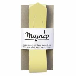 Anse de sac Miyako en cuir jaune - 408