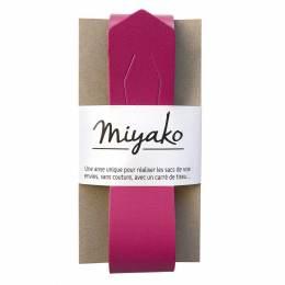 Anse de sac Miyako en cuir framboise - 408