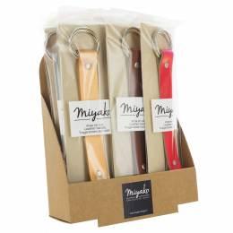 Présentoir de 12 anses cuir de sac kyoto Miyako - 408