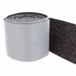Bande pailletée de 10cm noire - 408
