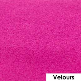 Feuille de flexcut effet velours fushia 50x25 cm - 408