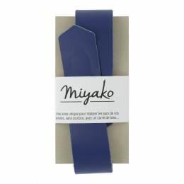 Anse de sac Miyako en cuir bleue - 408