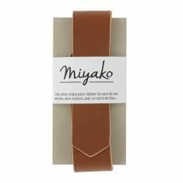 Anse de sac Miyako en cuir marron - 408