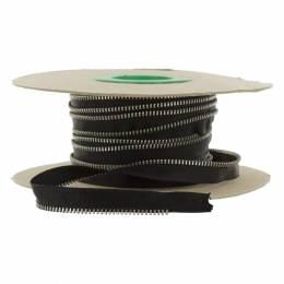 Passepoil en maille métal argent 4mm noir - 42