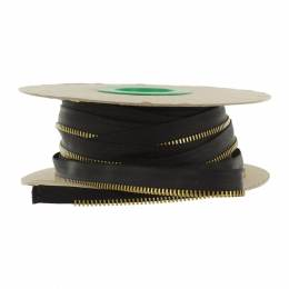 Passepoil en maille métal or 4mm noir - 42