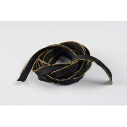 Passepoil en maille métal or 6mm noir - 42
