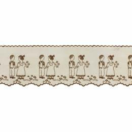 Bande enfant 12cm marron - 438