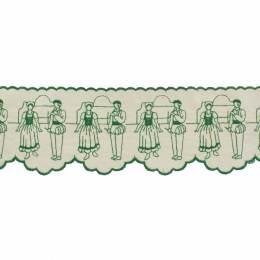 Bande danseur basque 12cm vert