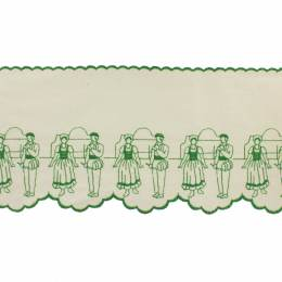 Bande danseur basque 19cm vert - 438