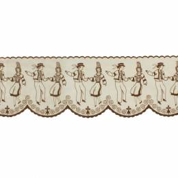 Bande danseur breton 12cm marron