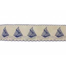 Bande bateau 10cm bleu - 438