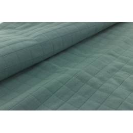 Tissu coton matelassé tayio vert - 44