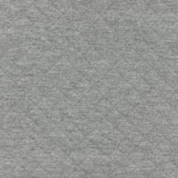 Tissu France Duval jersey matelassé gris clair - 44