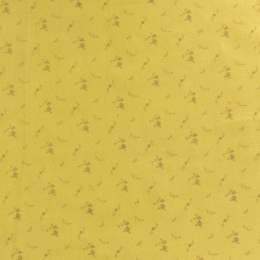 Tissu double gaze banane fleurs or - 44