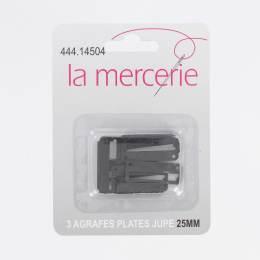 Agrafe plate jupe 25mm noir x3 - 444