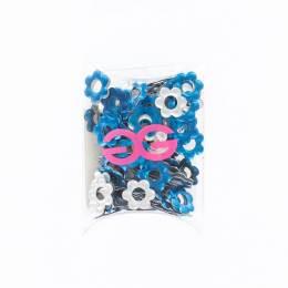 Cristal fleur nh bleu 10mm(144) - 452