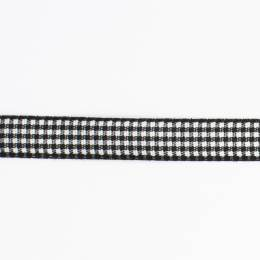 Ruban vichy n°2 10mm noir - 458