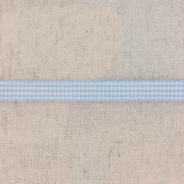 Ruban vichy n°2 10mm ciel - 458