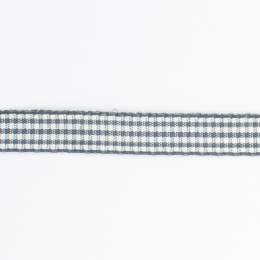 Ruban vichy n°2 10mm gris - 458