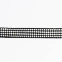 Ruban vichy n°3 15mm noir - 458
