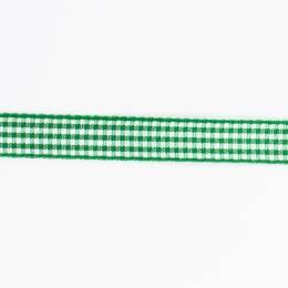 Ruban vichy n°3 15mm vert - 458