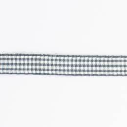 Ruban vichy n°3 15mm gris - 458