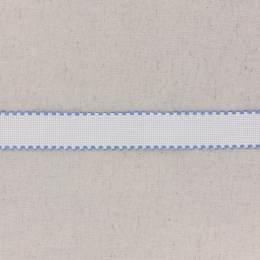 Bande aïda blanc bordée bleu - 458