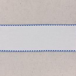 Bande aïda blanc bordée marine - 458