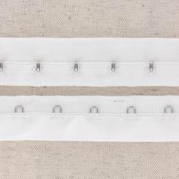 Agrafe sur bande coton 25mm blanc - 458