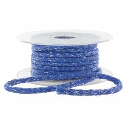 Cordon 6mm lurex bleu - 465