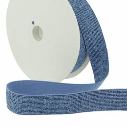 Élastique lurex bleu 25mm - 465