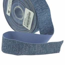 Élastique lurex bleu 35mm - 465