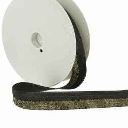 Élastique pré-plié lurex bicolore 20mm - 465