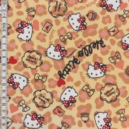 Tissu Hello Kitty heart leopard - 468