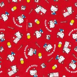 Tissu Hello Kitty okashi rose - 468