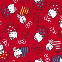 Tissu Hello Kitty candy rouge - 468