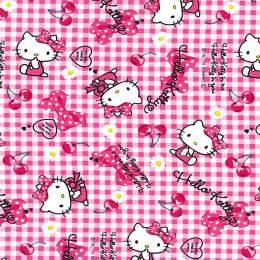 Tissu Hello Kitty ribbon cherry - 468