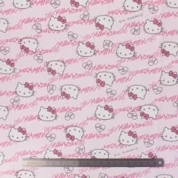 Tissu Hello Kitty oxford rose - 468