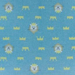 Tissu molleton sweat Kiyohara lion 83cm bleu - 468