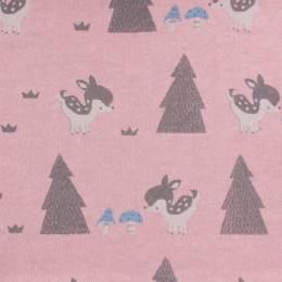 Tissu molleton sweat Kiyohara bambi rose 180cm - 468