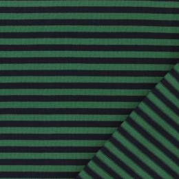 Tissu jacquard Kiyohara rayé marine/vert - 468