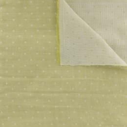 Tissu Kiyohara double gaze chambray à pois jaune - 468