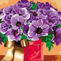 Canevas Luc antique 32/50 Fleurs en pot - 47