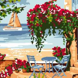 Canevas Luc antique 32/50 La terrasse - 47
