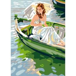 Canevas Luc antique 32/50 La barque - 47