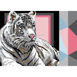 Canevas Luc antique 32/50 Tigre blanc - 47