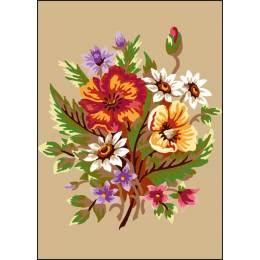 Canevas Luc antique 32/50 x 2 bouquet - 47