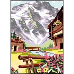 Canevas Luc antique 32/50 x 2 la montagne - 47